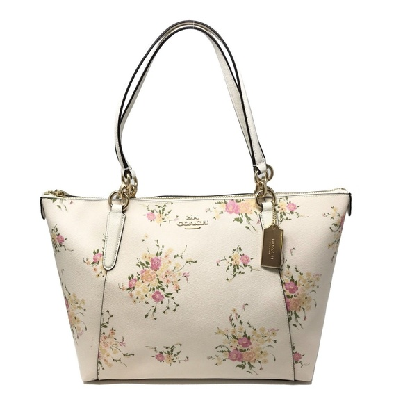 1c5587848b43 Coach Bags | Ava Tote With Floral Print Chalk Multi Bag | Poshmark